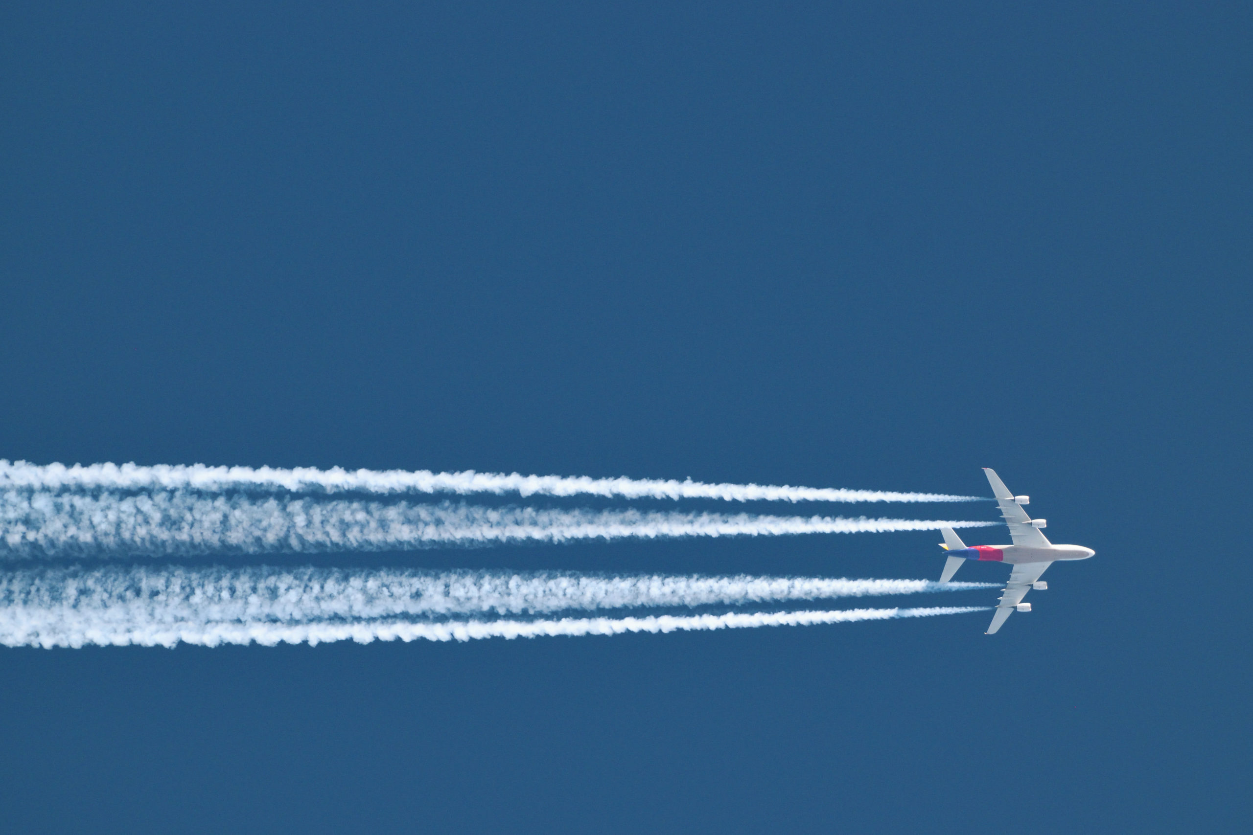 Aircraft Flying Over Africa Contrails A4SA